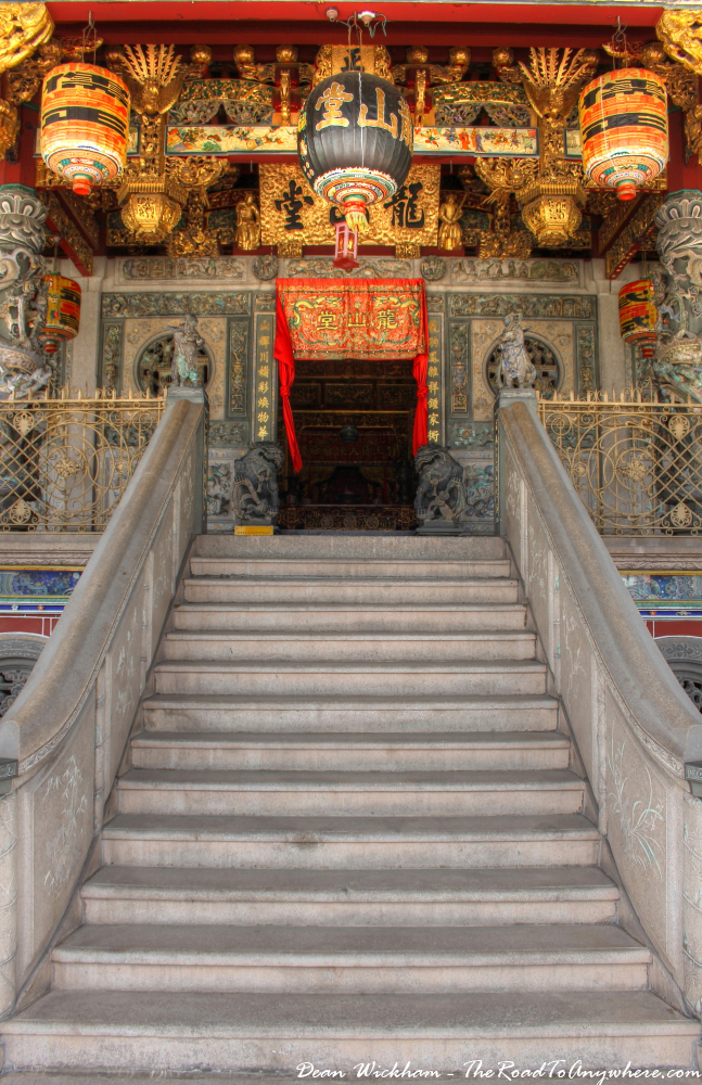 Entrance to Khoo Kongsi Clanhouse in George Town, Penang, Malaysia