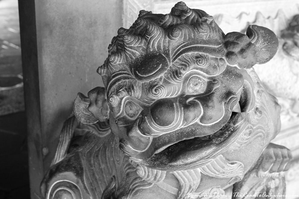 Stone statue at Khoo Kongsi Clanhouse in George Town, Penang, Malaysia