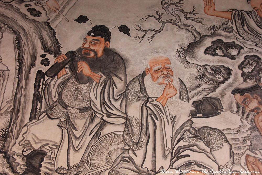 Wall painting at Khoo Kongsi Clanhouse in George Town, Penang, Malaysia