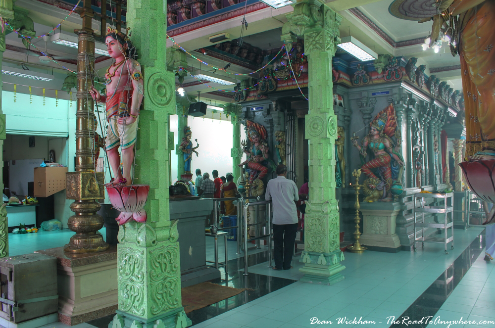 Inside Sri Mahamariamman Temple in Little India in George Town, Penang, Malaysia