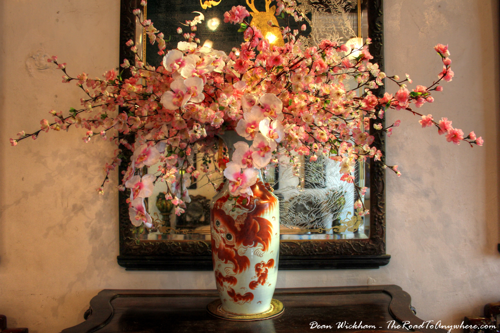 Antique Vase in Pinang Peranakan Mansion in George Town, Malaysia