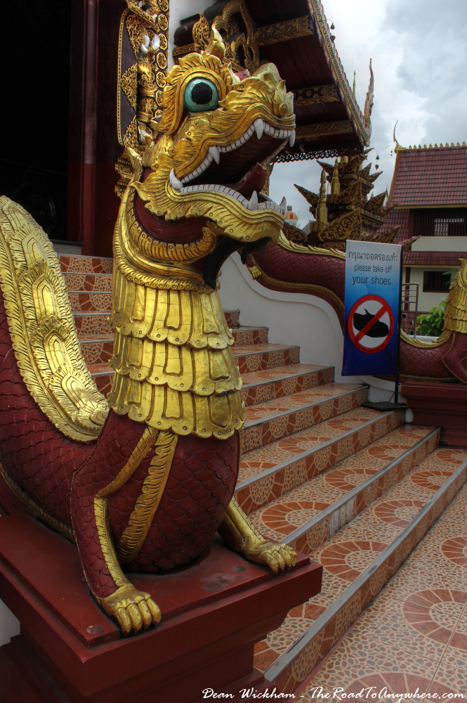 Naga guard at Wat Monthian in Chiang Mai, Thailand
