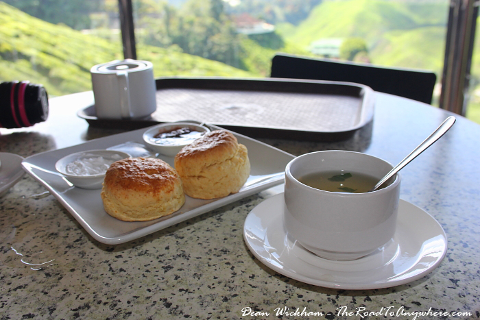 Tea and scones in Cameron Highlands, Malaysia