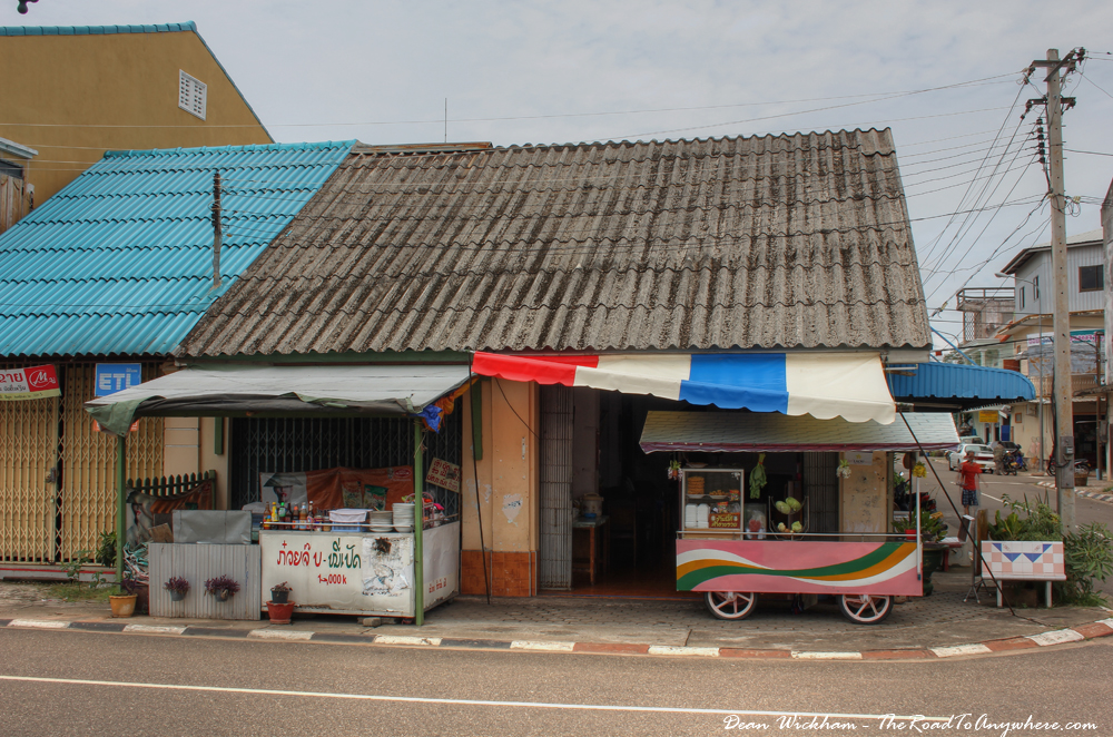 Food stalls in Savannakhet, Laos