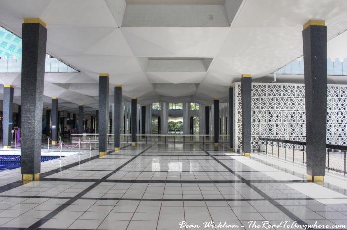 Empy hall at Masjid Negara - National Mosque in Kuala Lumpur, Malaysia
