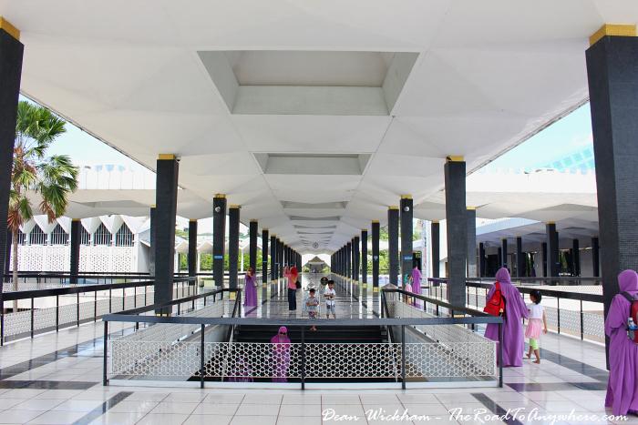 Hallway in Masjid Negara - National Mosque in Kuala Lumpur, Malaysia