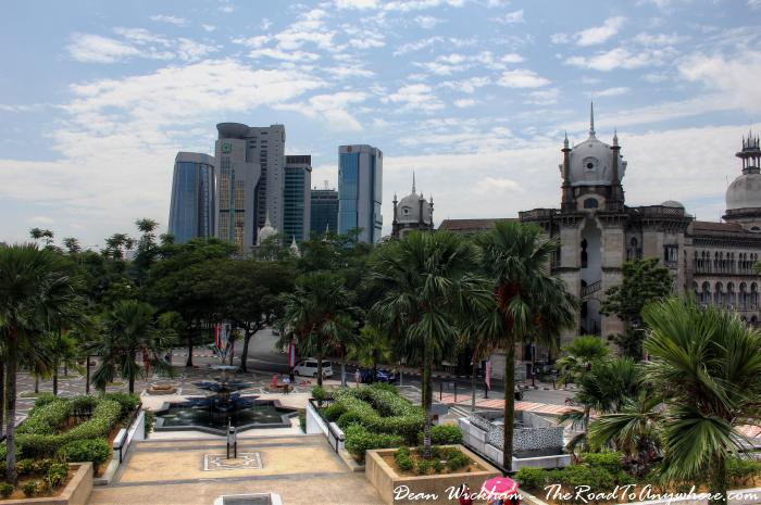 View of Kuala Lumpur from Masjid Negara - National Mosque in Kuala Lumpur, Malaysia