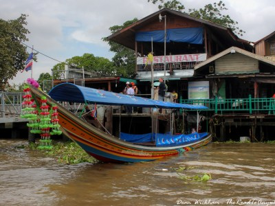 Long Tail Boat on the Chao Phraya River in Bangkok, Thailand