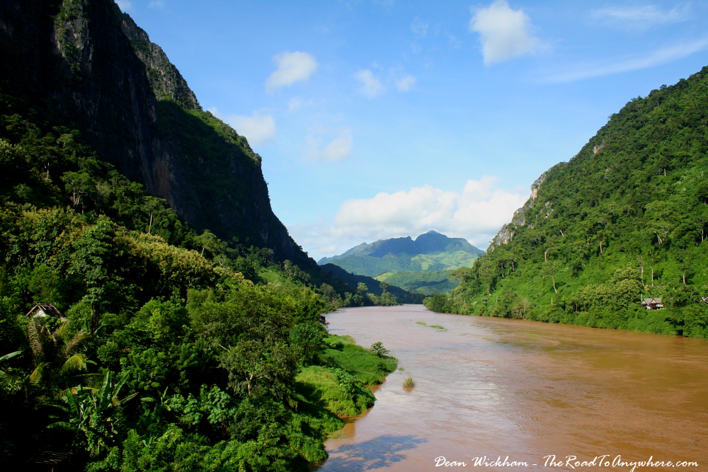 Nam Ou River in Nong Khiaw, Laos