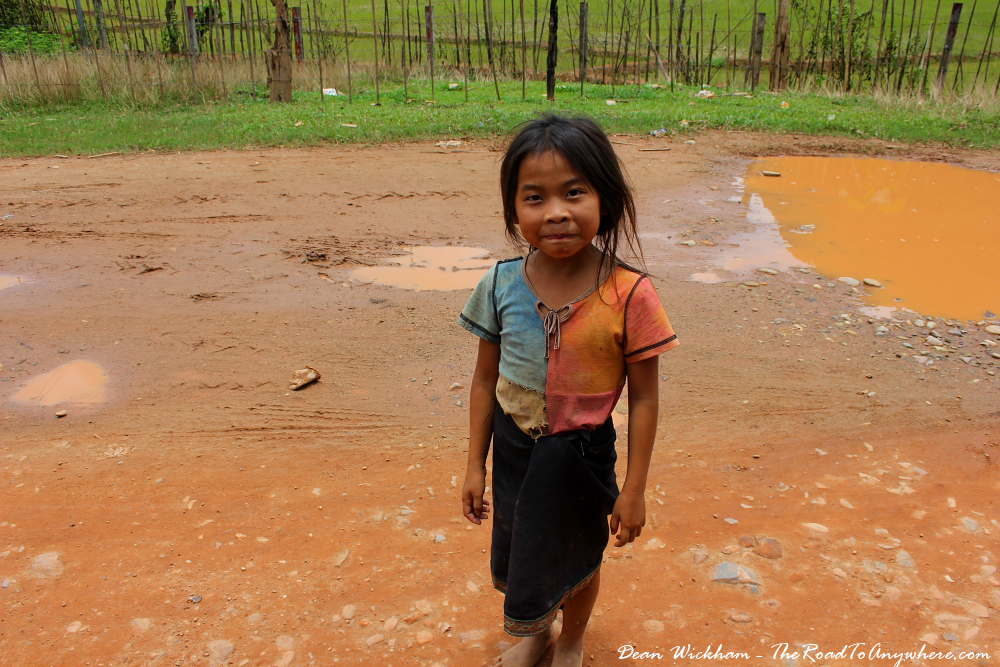 Little local girl in Vang Vieng, Laos
