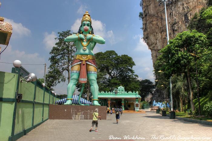 Statue and Shrine at Batu Caves in Kuala Lumpur, Malaysia