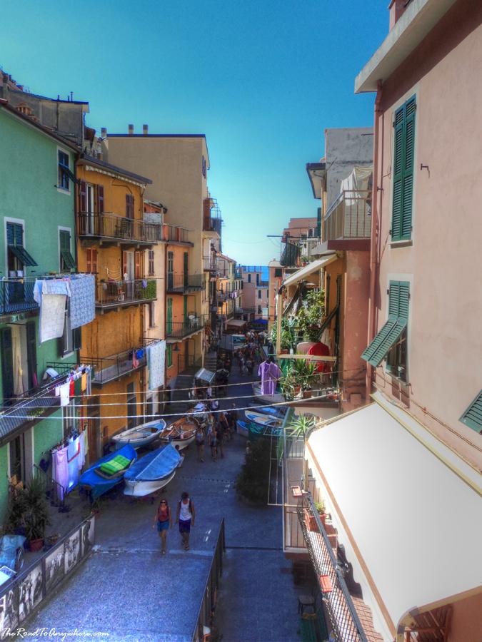 Street view in Manarola, Italy