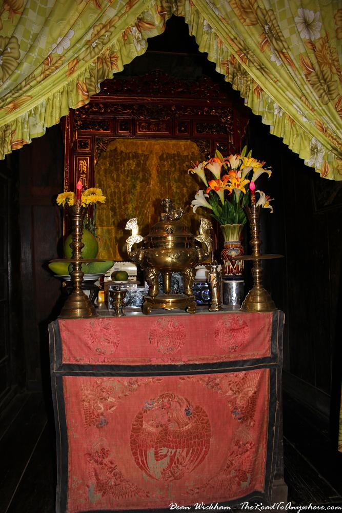 Shrine at Tan Ky House in Hoi An, Vietnam