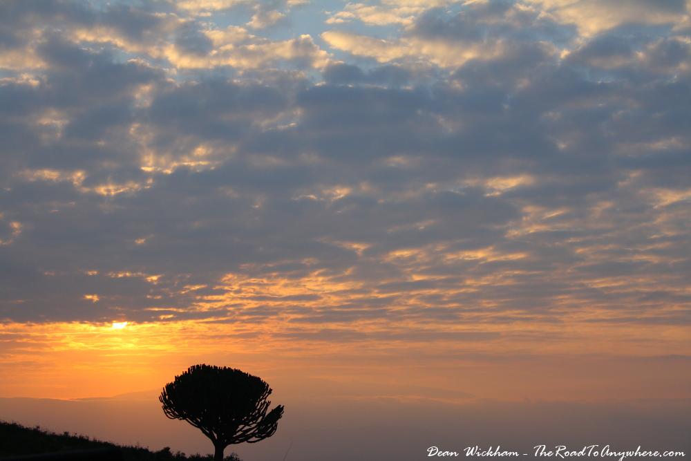 Sunrise at the rim of Ngorongoro Crater, Tanzania