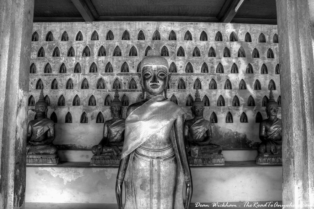 Buddhas at Wat Si Saket in Vientiane, Laos