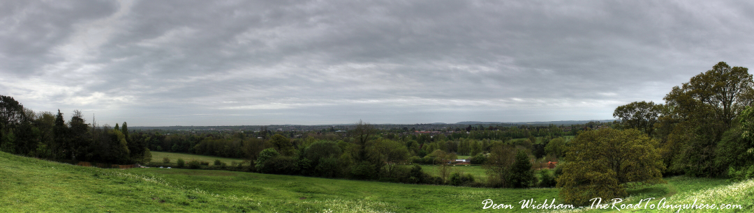 View towards Newbury in Berkshire from Donnington Castle