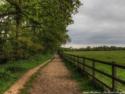 Country walking path in Silchester, England