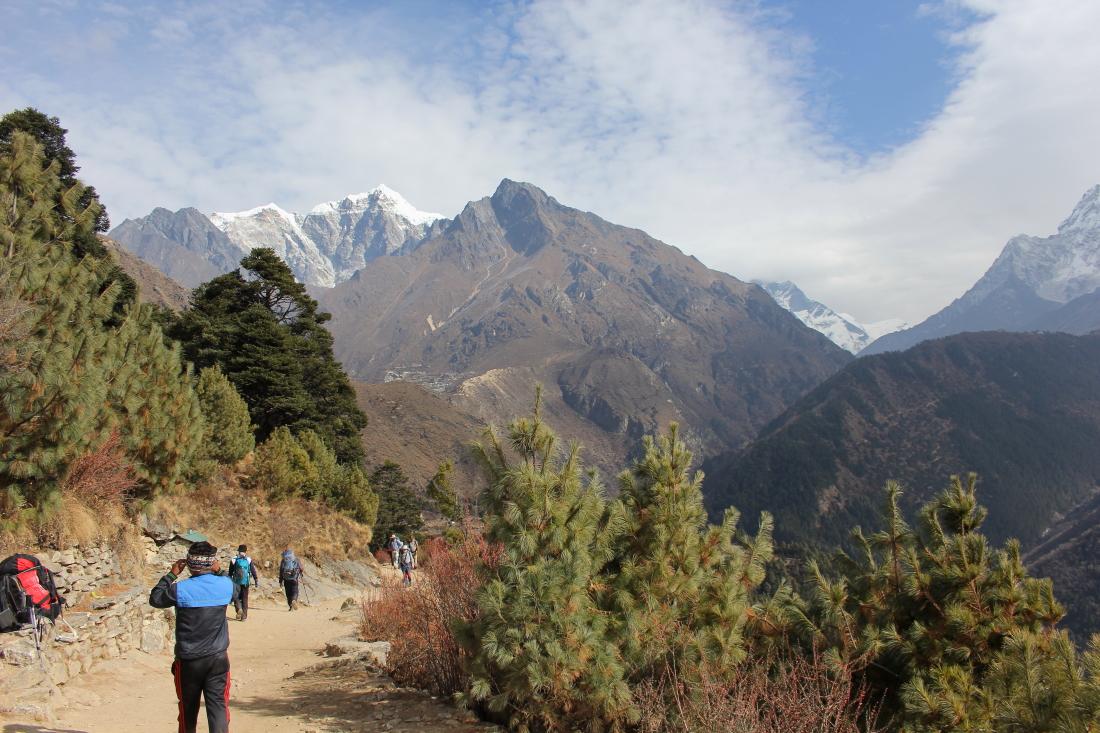View of Taboche near Kyangjuma in Nepal