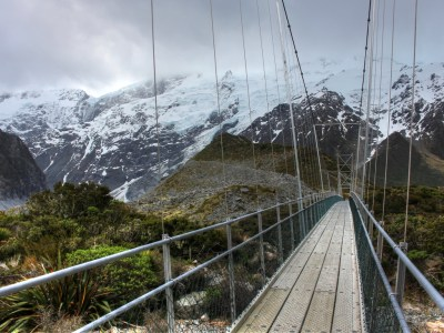 Bridge Hooker Valley New Zealand