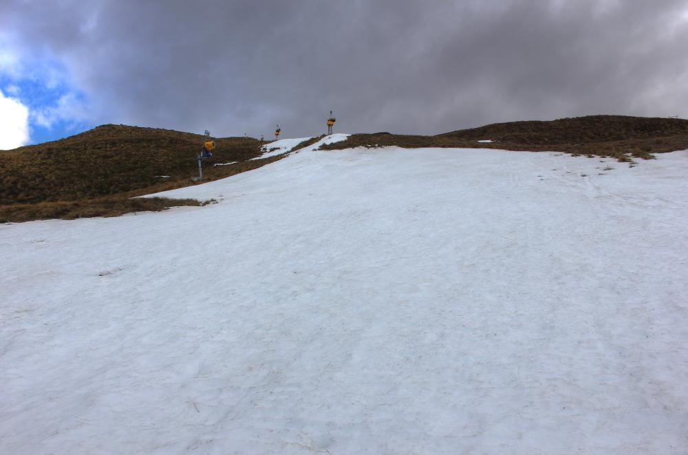 Snow on Coronet Peak, New Zealand