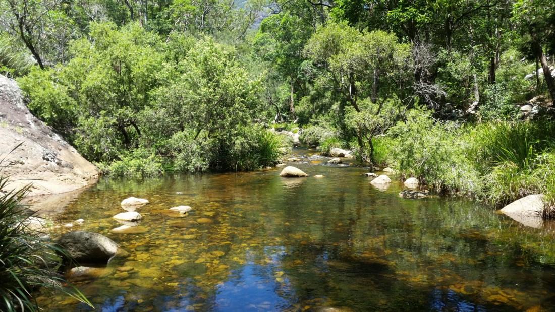 Lower Portals trail in Mount Barney National Park, Australia