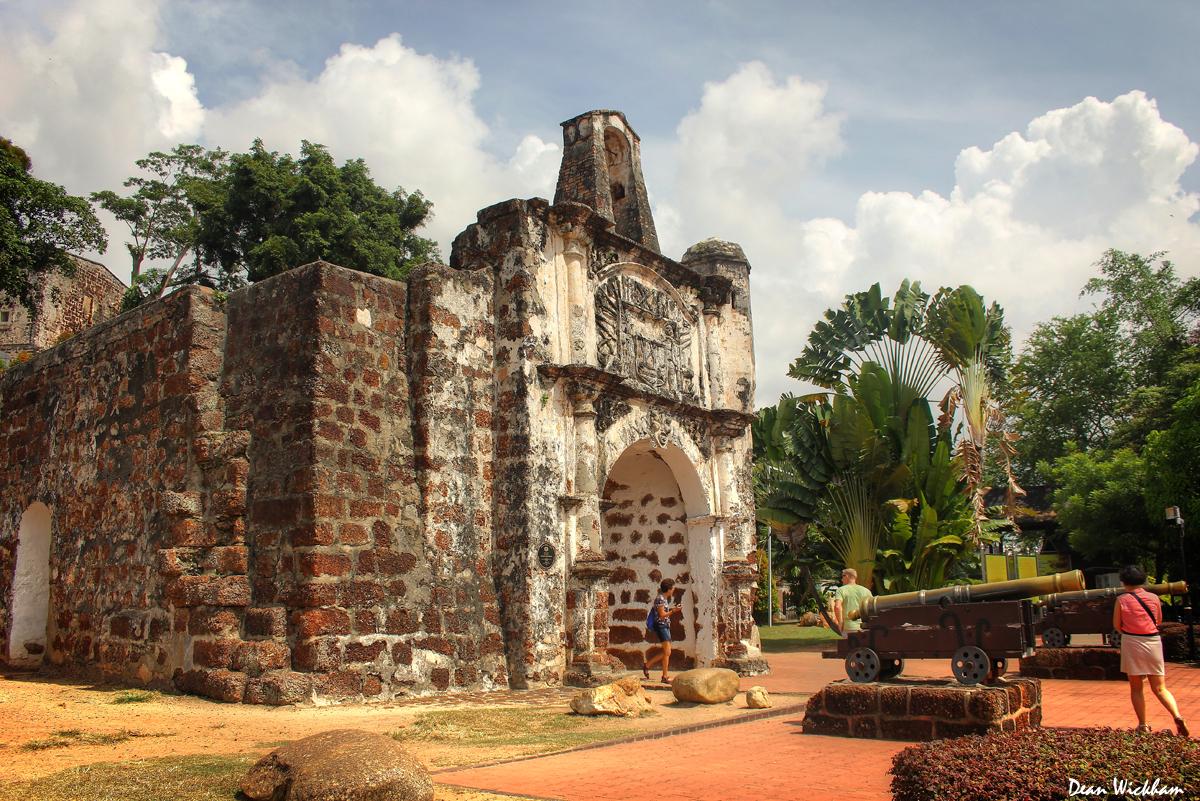 Porta de Santiago at A Famosa in Malacca, Malaysia