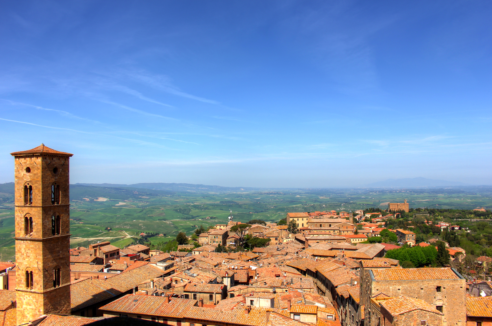 Rooftop View in Montepulciano, Italy