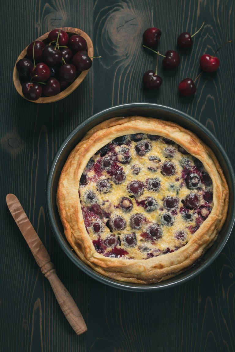 If you're looking for a versatile dish for breakfast, brunch or dessert, this Cherry Clafoutis, a warm custard filled with molten cherries, is for you. Click for recipe.