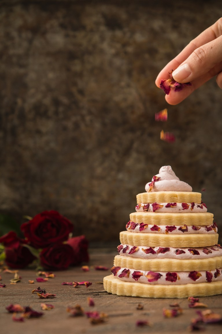 Sugar Cookie Trees with Strawberry Rose Frosting