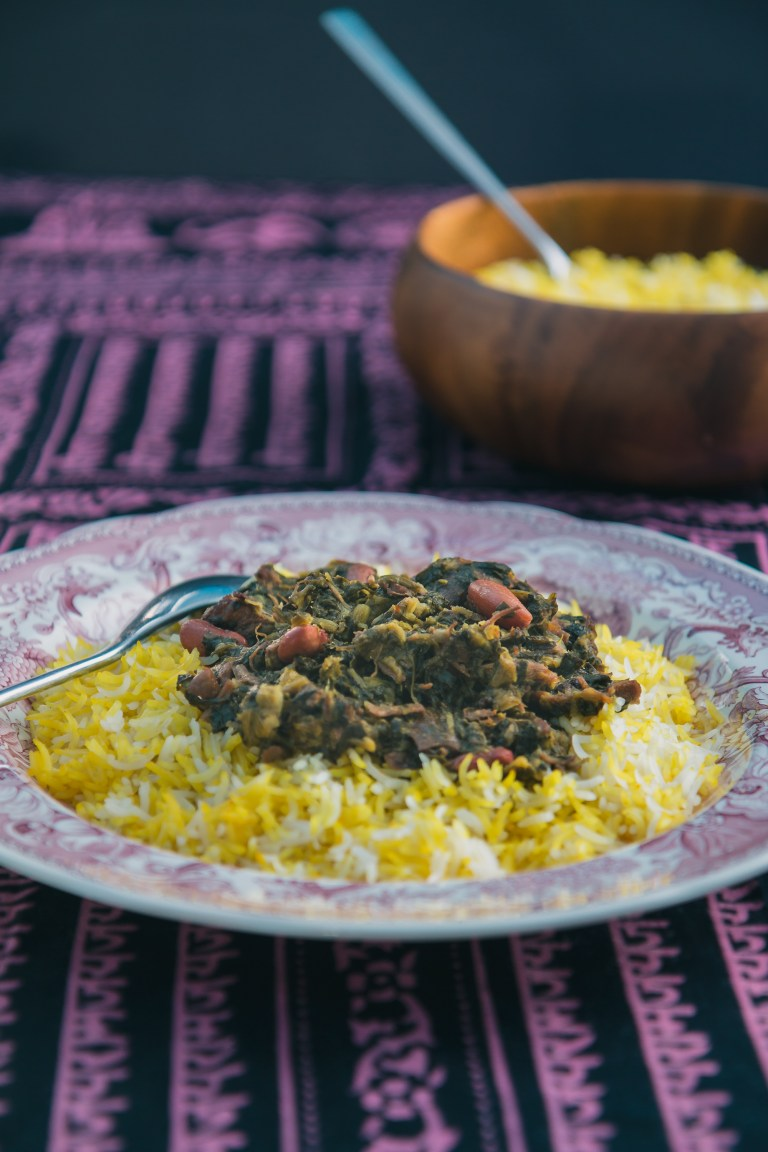 The Road to Honey's Most Popular Recipes of 2016 - Ghormeh Sabzi with Tahdig