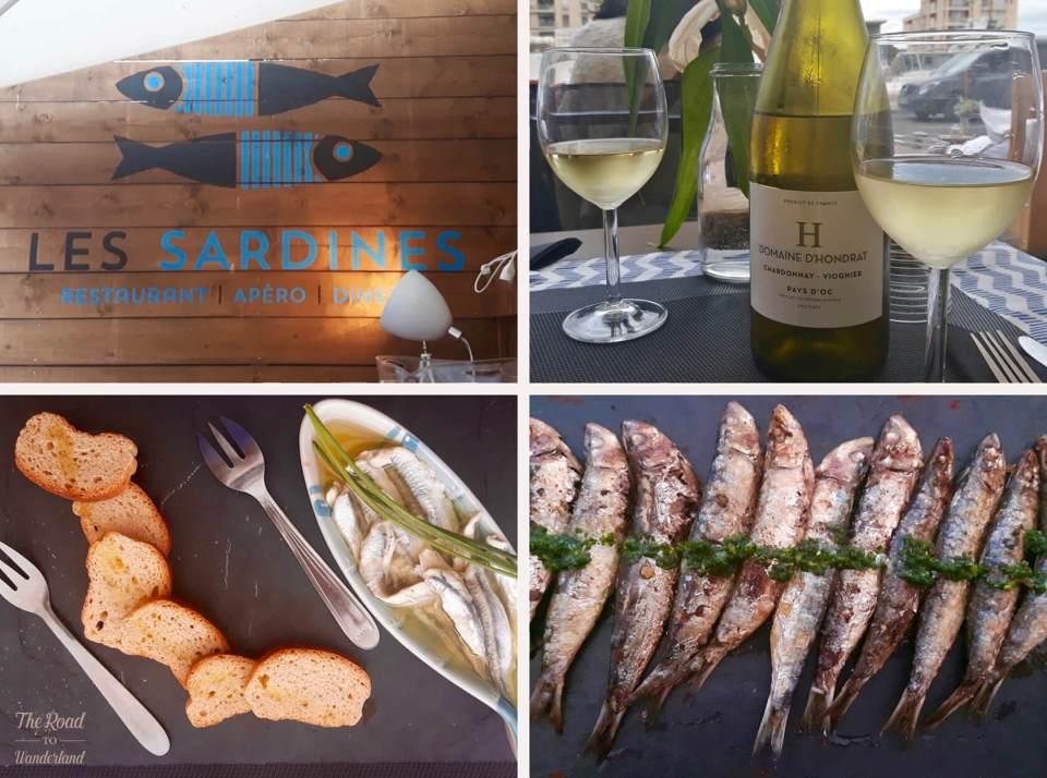 Seafood feast at Les Sardines