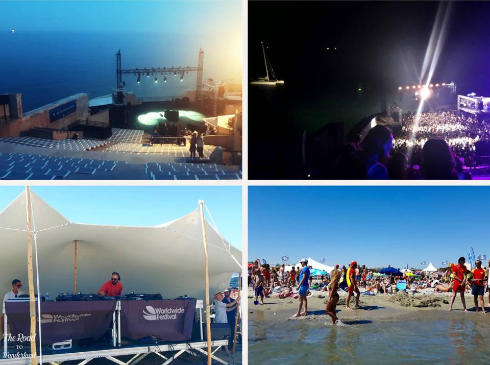 Worldwide Festival, Sète: The stages