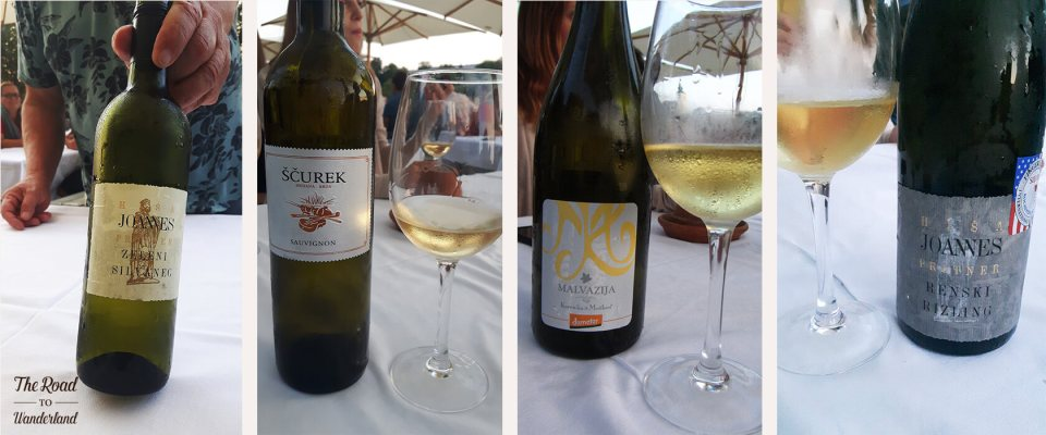 A selection of white wines from the vinoo.co wine cruise