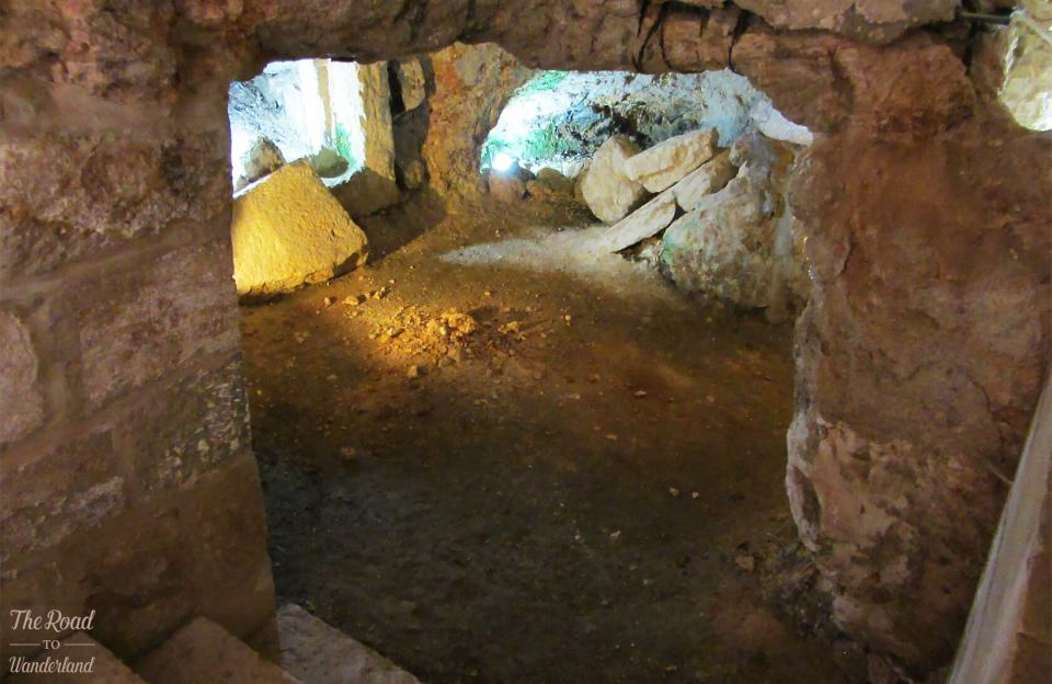 Inside the cave where Jesus taught his disciplines the Lord's Prayer