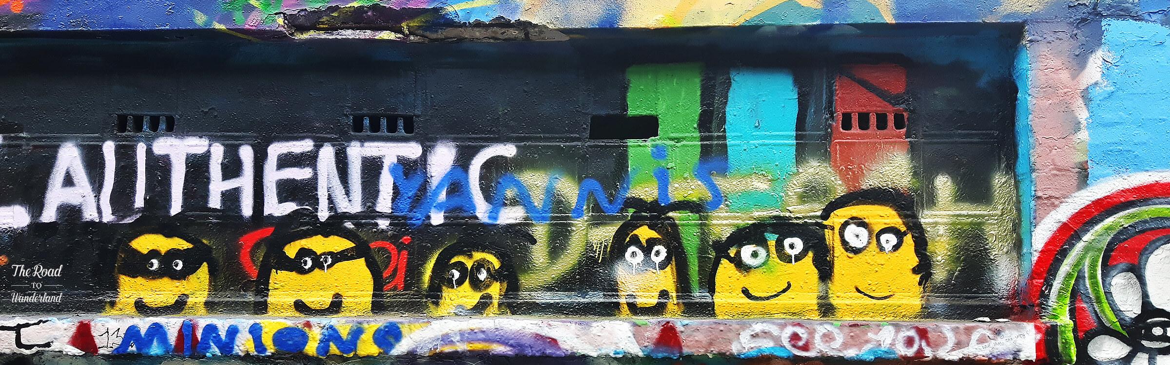 Little bandit faces, Graffiti Street, Ghent