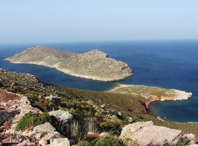 View from Ruth's Rock on Tilos – I was so grateful to return here in 2018