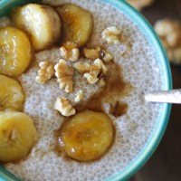 Bananas Foster Chia Seed Pudding