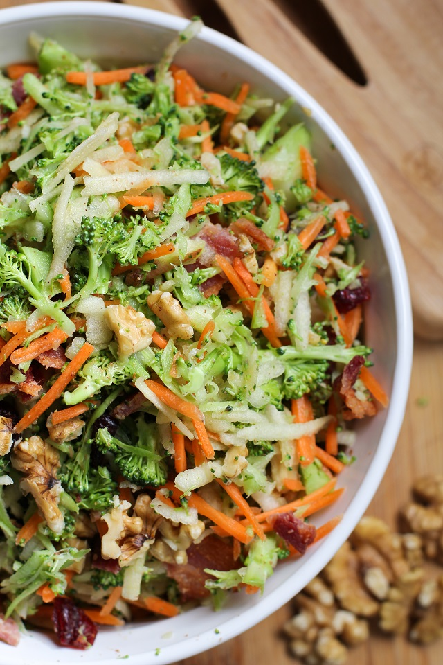 High-Heeled Love: Weekly Round-Up - Broccoli Salad with Warm Bacon Viniagrette from The Roasted Root