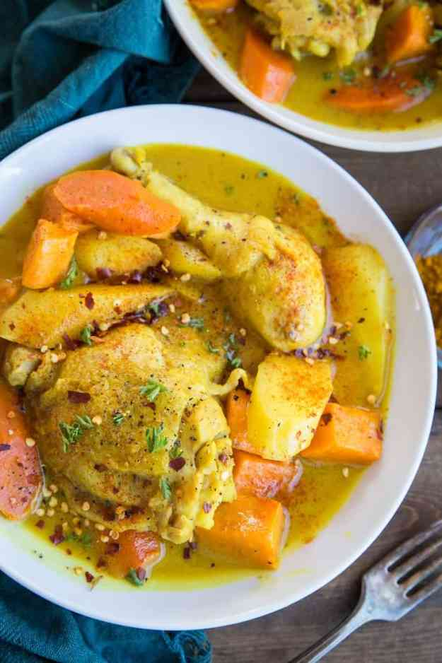 Instant Pot Turmeric Chicken - a healthy and comforting paleo meal perfect for any night of the week