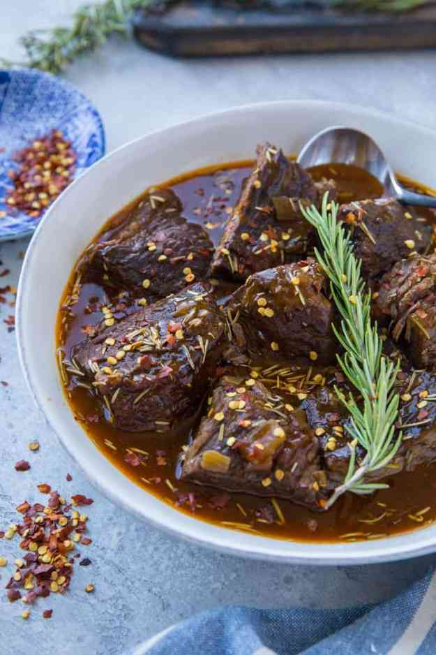Instant Pot Pot Roast with Balsamic Gravy - paleo, whole30, low carb, keto, healthy dinner recipe   TheRoastedRoot.com