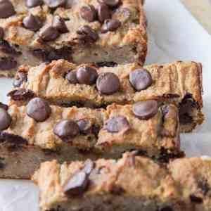 Chocolate Chip Paleo Vegan Banana Bread - a moist and dense healthy recipe that is dairy-free, oil-free, and refined sugar-free   TheRoastedRoot.net #vegan #glutenfree #grainfree #vegan