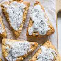 Paleo Vegan Lemon Poppy Seed Scones