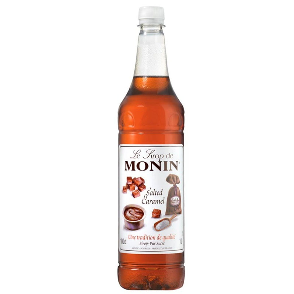 Monin Salted Caramel Syrup 1l Plastic Bottle The Roastery
