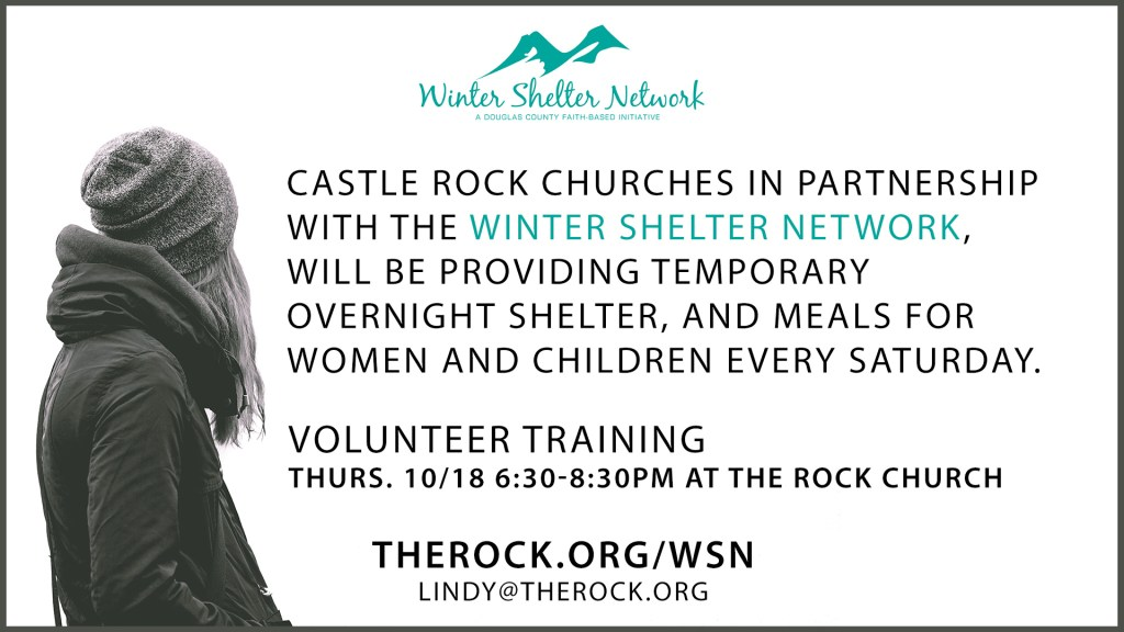Winter Shelter Network Training on 10/18