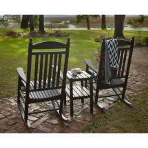 Polywood Jefferson Style 3-piece Outdoor Rocking Chair Set