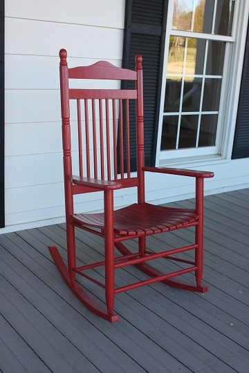 Adult SpindleBacked Wooden Rocking Chair  The Rocking
