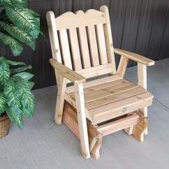 Wicker Porch Chair Cushions Office Very Royal English Outdoor Glider Of Western Red Cedar - The Rocking Company