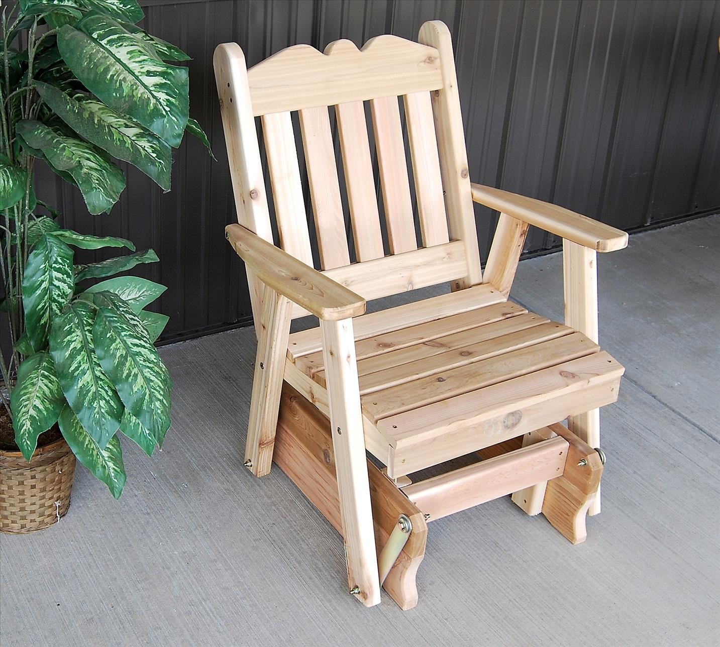 gray adirondack chairs swing chair images royal english outdoor glider of western red cedar - the rocking company