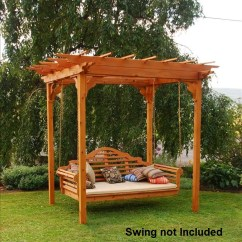 Wicker Rocking Chairs Outdoor Home Theatre Chair Covers Elegant Western Red Cedar Pergola With Swing Hangers - The Company