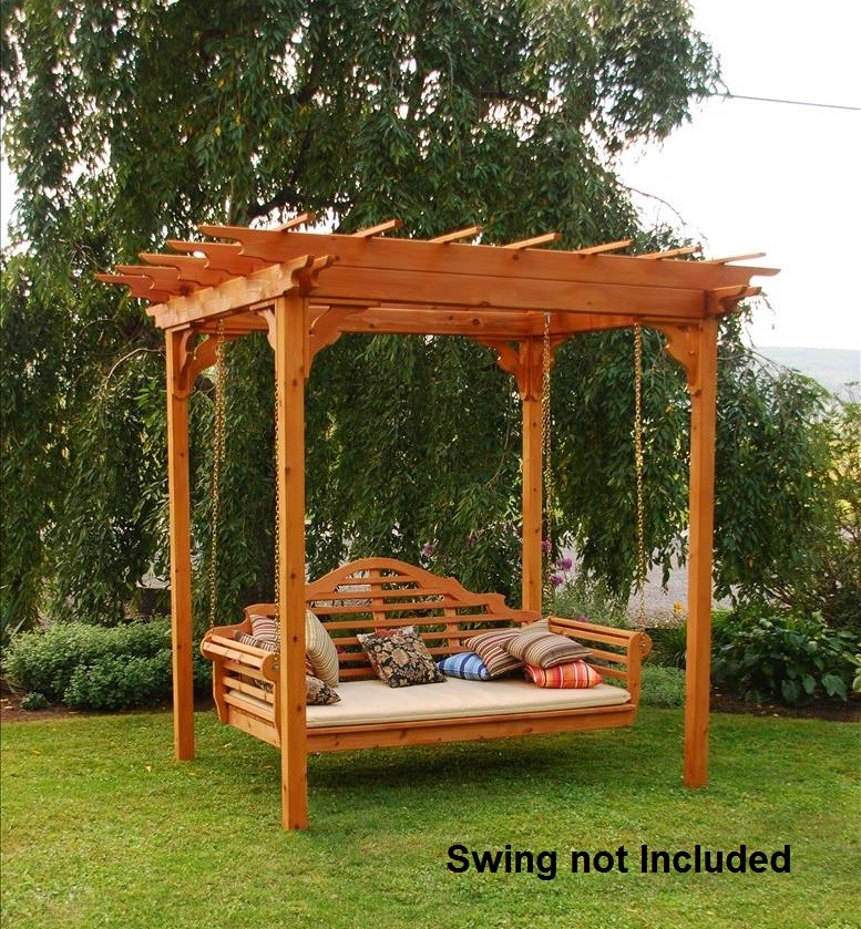 gray adirondack chairs fishing chair for heavy person elegant western red cedar pergola with swing hangers - the rocking company